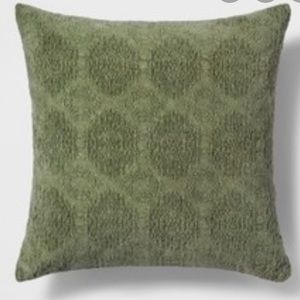 Stonewashed Chenille Throw Pillow Color Green